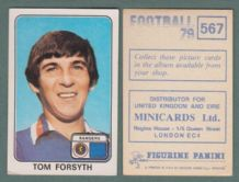 Glasgow  Rangers Tom Forsyth Scotland 567